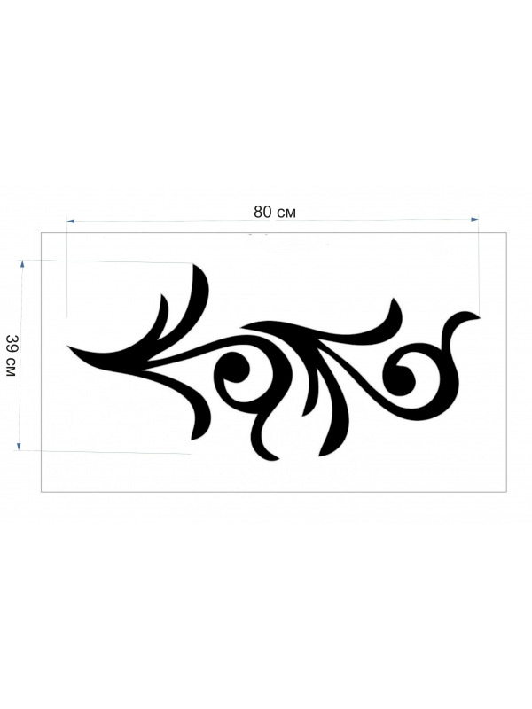 Трафарет для рідких шпалер - Орнамент