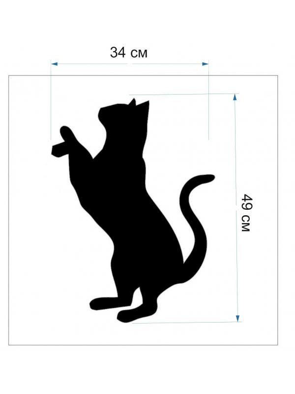 Трафарет для жидких обоев - Кот